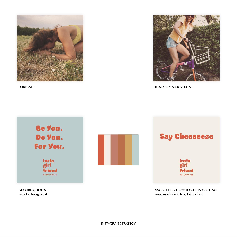 Instagram-Konzept und Strategie für Fotografin