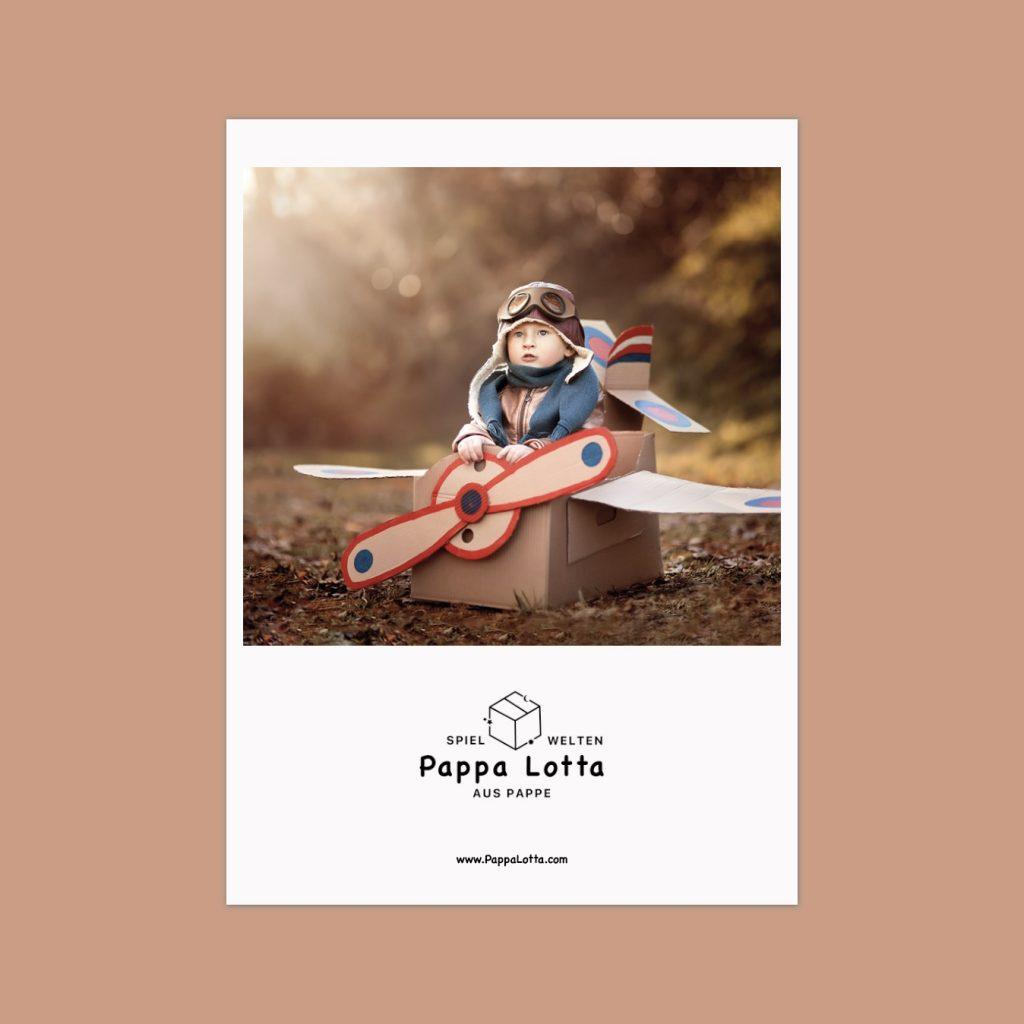 Imageflyer von Pappa Lotta, bisher erst eine Businessidee